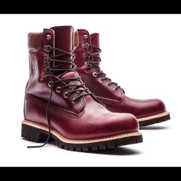 Timberland 8in Burgundy Boot Made in USA- Limited 6d98605a7e